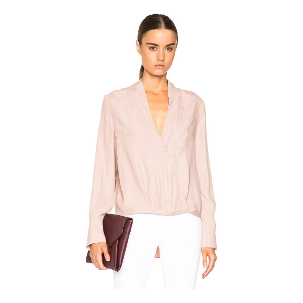 BY MALENE BIRGER Heddah top - Self: 100% viscose - Contrast Fabric: 100% silk.  Made in...