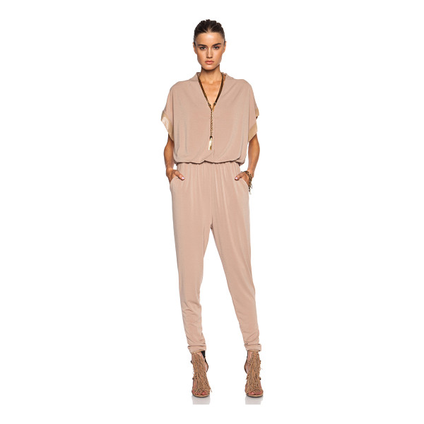 BY MALENE BIRGER Isina poly-blend jumpsuit - Self: 96% poly 4% elastan - Contrast Fabric: 95% silk 5%...