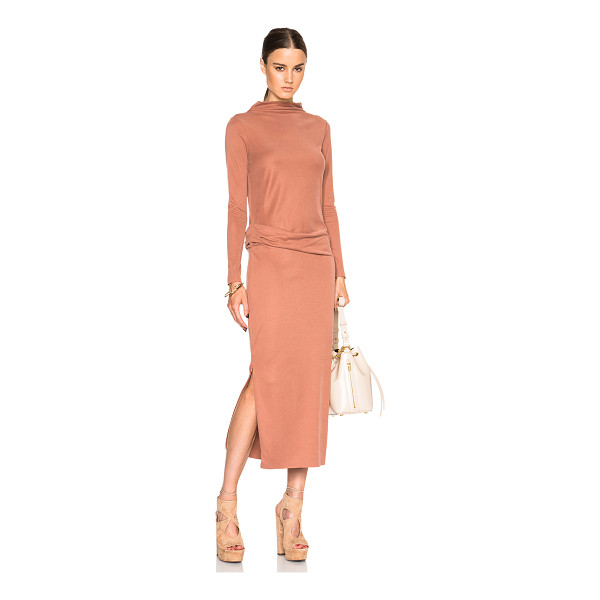 BY MALENE BIRGER Nihildas dress - 60% modal 40% poly.  Made in China.  Unlined.  Gathered...