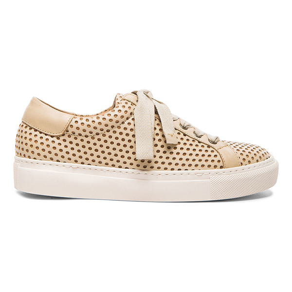 BY MALENE BIRGER Rawani perforated leather sneakers - Perforated leather upper with rubber sole.  Made in...