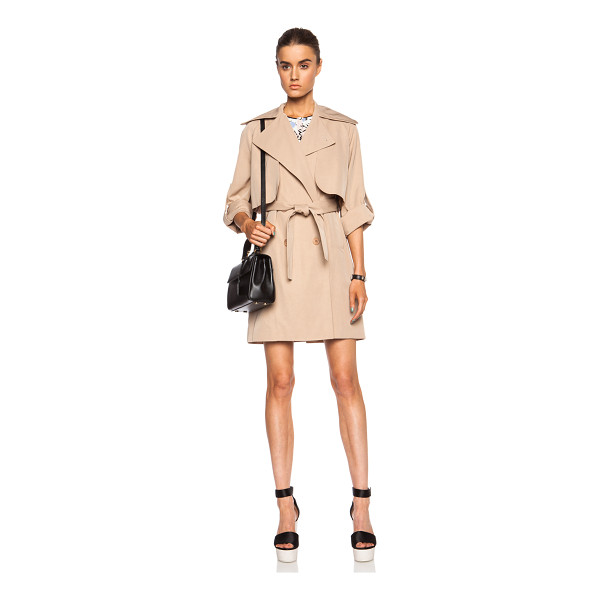 CARVEN Viscose-blend trench coat - Self: 60% viscose 40% cotton - Lining: 65% acetate 35%...