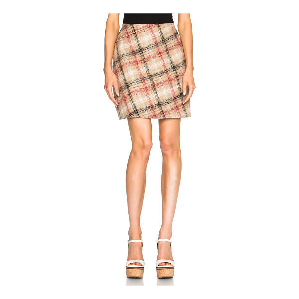 CARVEN Zipper mini skirt - Self: 40% wool 22% poly 17% polyacrylic 12% alpaca 9%...