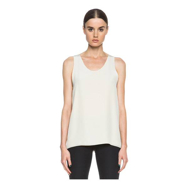 CHLOE Crepe de chine tank - Self & Lining: 100% silk.  Made in Madagascar.