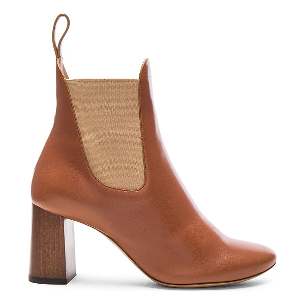 CHLOE Leather Harper Ankle Boots - Leather upper and sole.  Made in Italy.  Shaft measures
