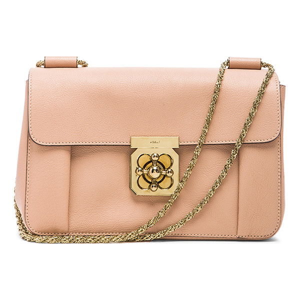 CHLOE Medium elsie shoulder bag - Goatskin leather with lambskin leather lining and gold-tone...