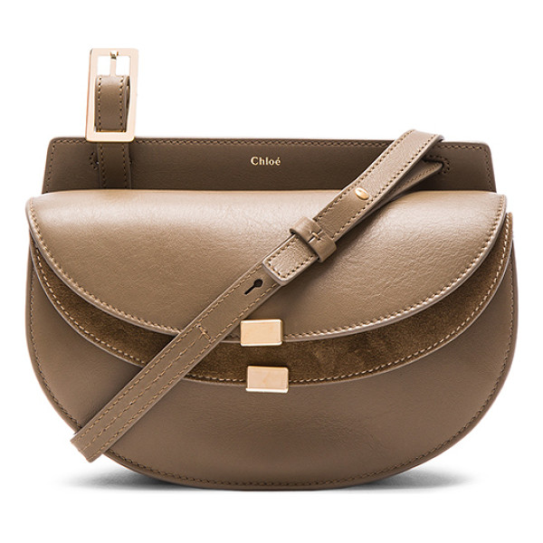 CHLOE Mini calfskin & suede georgia bag - Calfskin leather with raw lining and gold-tone hardware. ...