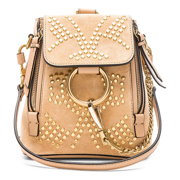 """CHLOE Mini Faye Constellation Studded Suede Backpack - """"Stud embellished calfskin suede with twill lining and..."""
