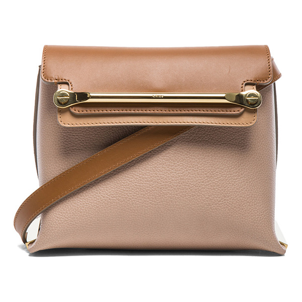 CHLOE Small clare bag - Calfskin leather with lambskin leather lining and gold-tone...