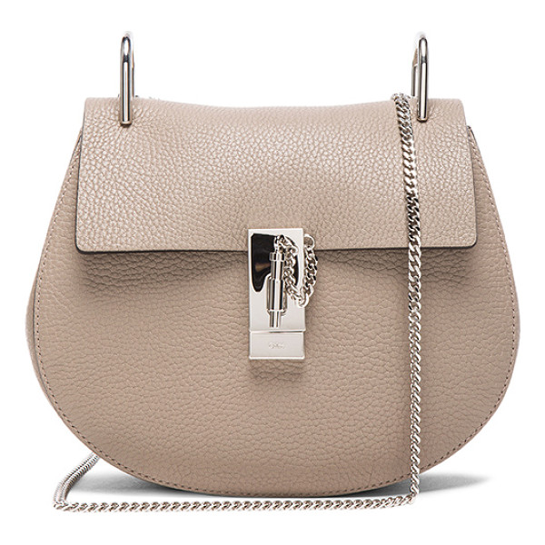 CHLOE Small drew grain leather & calfskin bag - Grained lambskin leather with calfskin suede lining and...