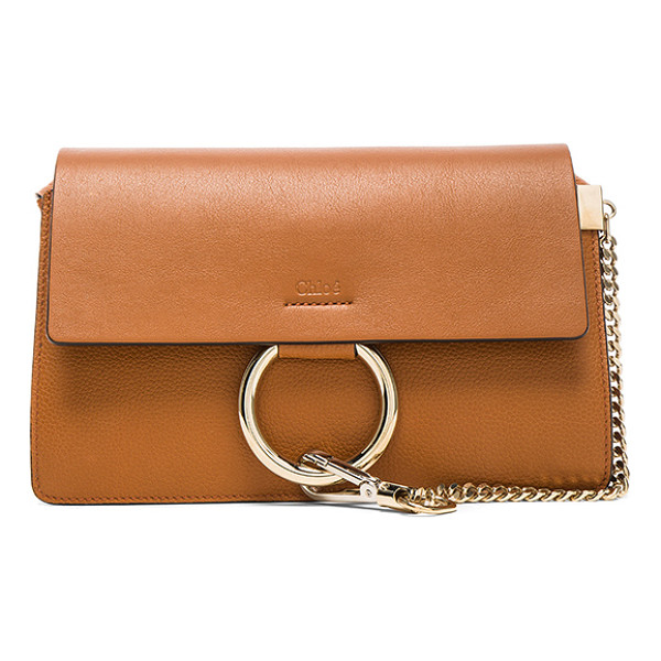 "CHLOE Small Faye Grained Calfskin Shoulder Bag - ""Grained calfskin leather with suede lining and pale..."