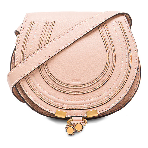 CHLOE Small Marcie Saddle Bag - Genuine calfskin leather with cotton-twill fabric lining
