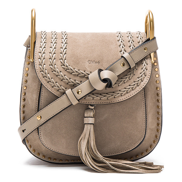 CHLOE Small Suede Hudson Bag - Calfskin suede with raw lining and gold-tone hardware. ...