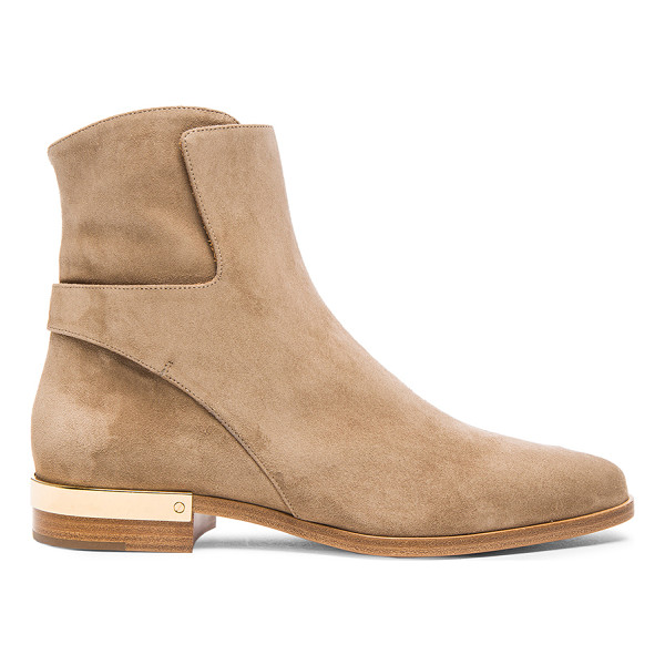 CHLOE Suede boots - Suede upper with leather sole.  Made in Italy.  Shaft...