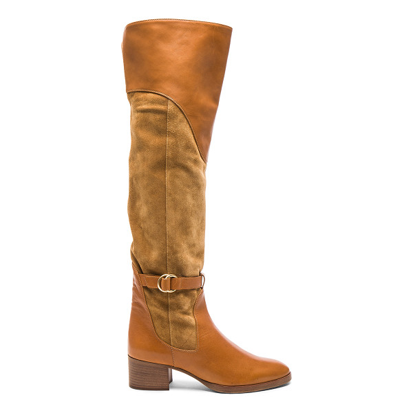 CHLOE Suede Lenny Over the Knee Boots - Suede upper with leather sole. Made in Italy. Shaft...