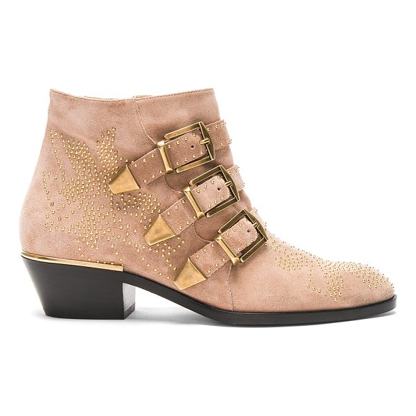 CHLOE Susanna Suede Boots - Stud embellished suede upper with leather sole.  Made in...