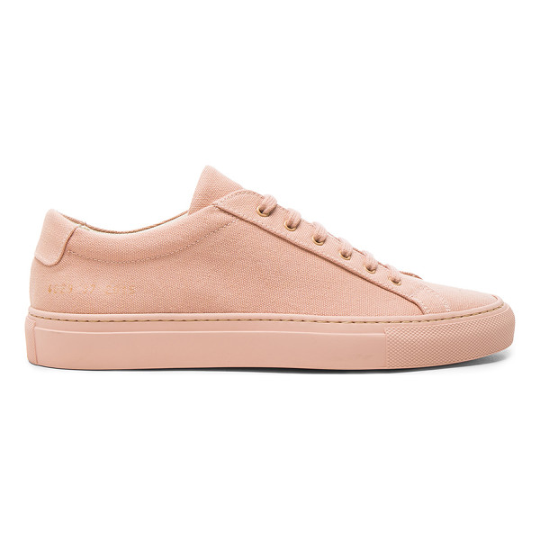 COMMON PROJECTS Canvas Achilles Low - Canvas upper with rubber sole.  Made in Italy.