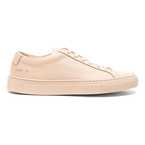 COMMON PROJECTS Leather Original Achilles Low - Leather upper with rubber sole. Made in Italy. Additional...