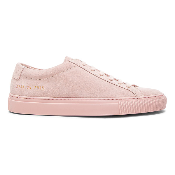 COMMON PROJECTS Leather original achilles low suede - Suede upper with rubber sole.  Made in Italy.