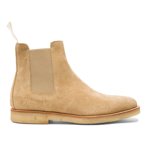 COMMON PROJECTS Suede Chelsea Boots - Suede upper with rubber sole.  Made in Italy.  Shaft...