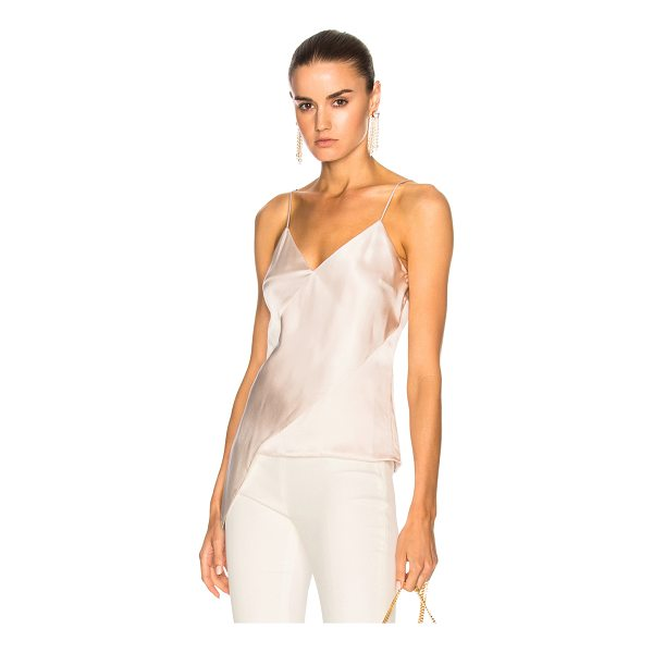 CUSHNIE ET OCHS Sash Panel Detail Cami - Self: 100% silk - Lining: 95% silk 5% elastan.  Made in...