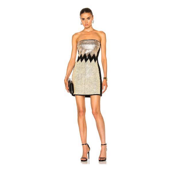 DAVID KOMA Plexi & Stones Embroidered Dress - Self: 52% acetate 45% viscose 3% elastanLining: 96% acetate...