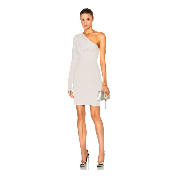 DION LEE Axis Sleeve Knit Dress - 77% viscose 23% nylon. Made in China. Dry clean only....