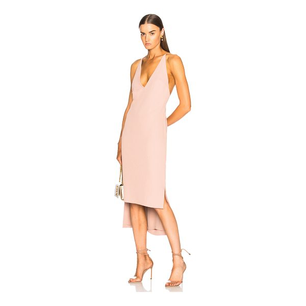 DION LEE Fine Line Dress - Self & Lining: 100% poly.  Made in China.  Dry clean only. ...