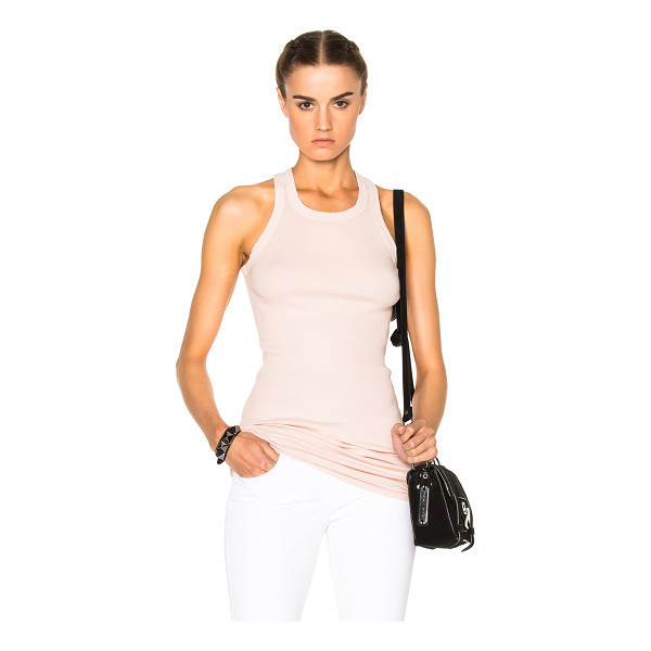 DRKSHDW BY RICK OWENS Rib Tank Top - 100% cotton.  Made in Italy.  Hand wash.  Rib knit fabric.