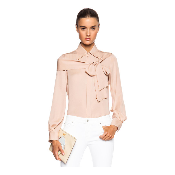 DSQUARED2 Broadway blouse - 100% silk.  Made in Italy.  Hidden button front closures. ...