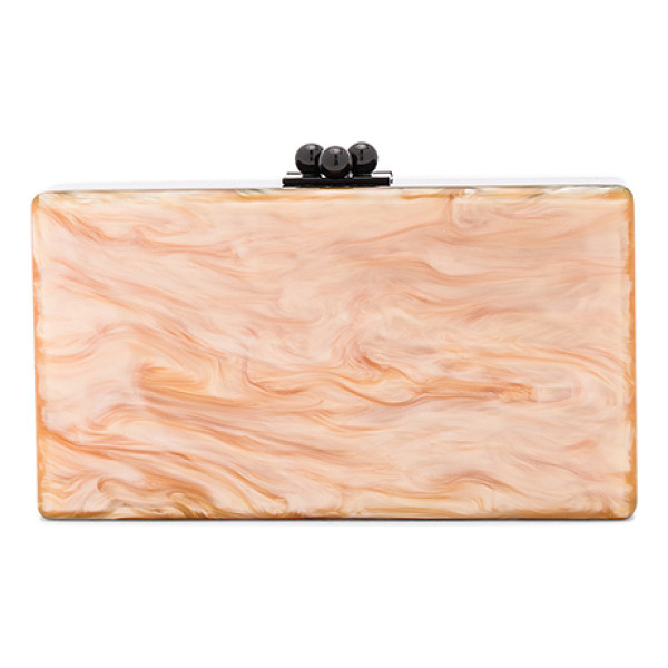 EDIE PARKER Jean Color Block Clutch - 100% hand poured acrylic hinged clutch with black-tone