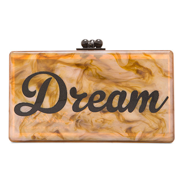EDIE PARKER Jean dream clutch - 100% hand poured acrylic hinged clutch with gold-tone...