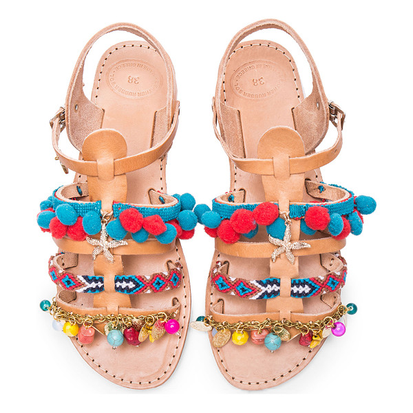 ELINA LINARDAKI Maude Leather Sandals - Created by a mother daughter team, Elina Linardaki is a