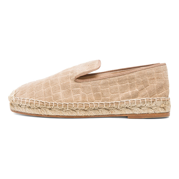 ELYSE WALKER LOS ANGELES Croc embossed suede espadrilles - Embossed suede upper with leather sole.  Made in Spain. ...