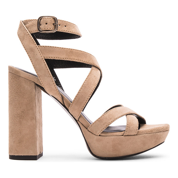 ELYSE WALKER LOS ANGELES Hedy Suede Heels - Suede upper with leather sole.  Made in Spain.  Approx...