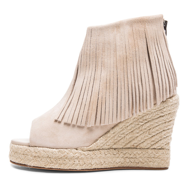 ELYSE WALKER LOS ANGELES Lindsey suede fringe espadrille wedges - Suede upper with leather sole.  Made in Spain.  Approx...