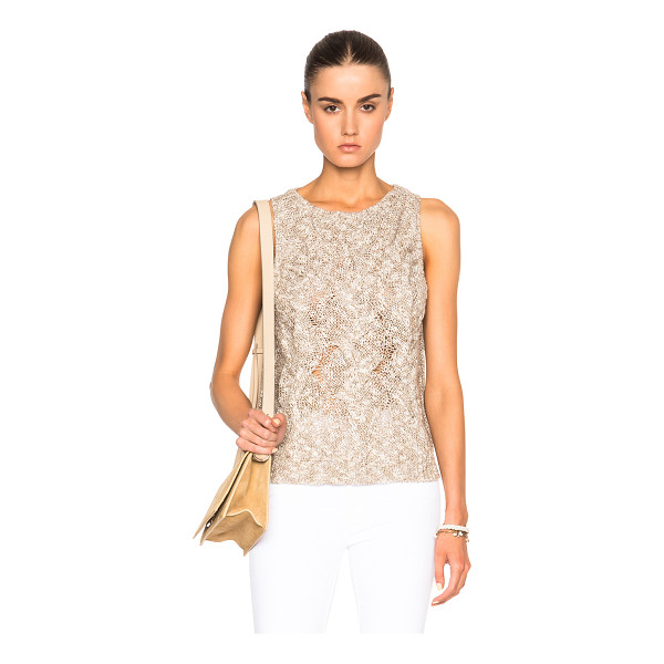 ENZA COSTA Cable Knit Shell Top - 37% linen 27% cotton 26% viscose 10% polyamide.  Made in...