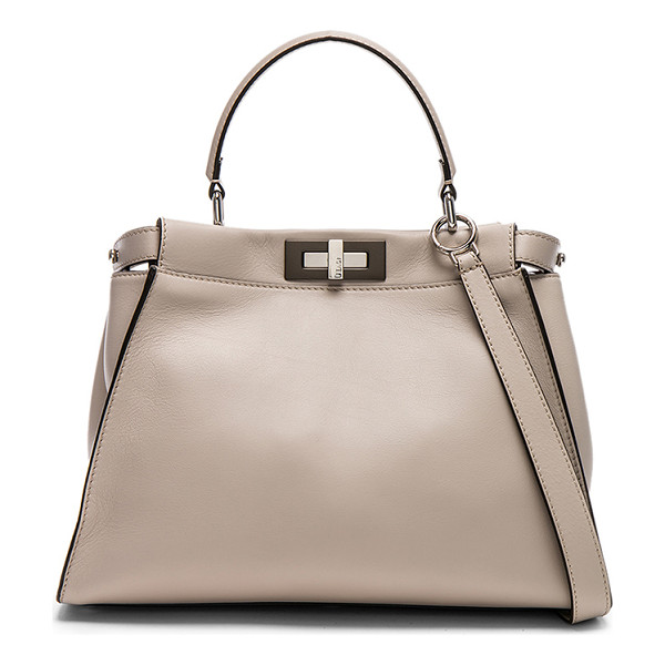 FENDI Regular Peekaboo - Nappa leather with suede lining and mixed hardware. Made in...