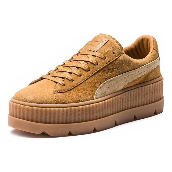 FENTY PUMA BY RIHANNA Cleated Suede Creeper Sneakers - Suede upper with rubber sole. Made in Vietnam. Approx 50mm/...