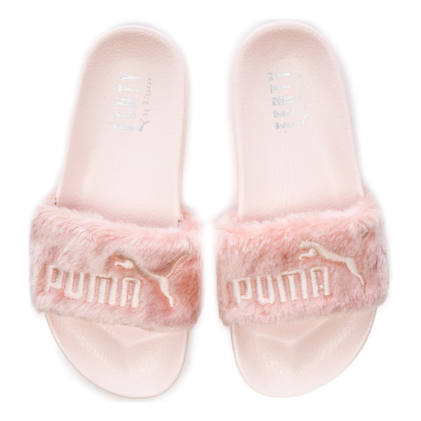 FENTY PUMA BY RIHANNA Leadcat faux fur slide sandals - Faux fur upper with foam sole.  Made in Vietnam.  Padded...