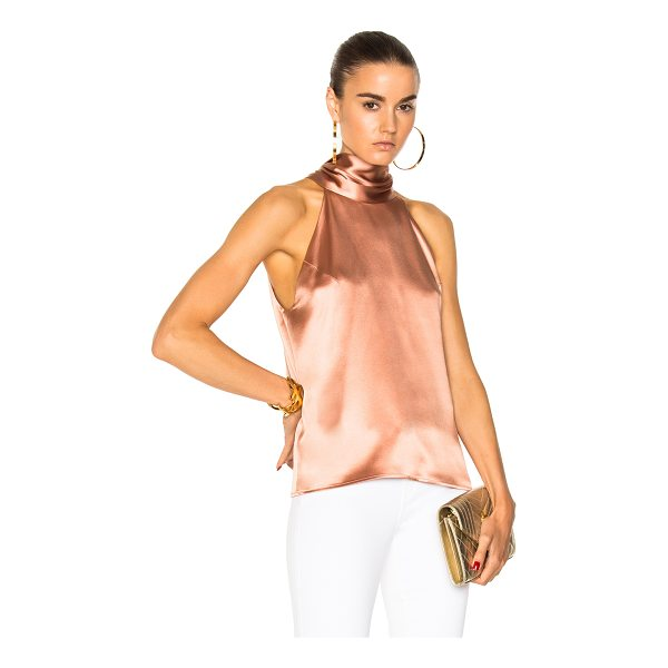 GALVAN LONDON Silk Sash Neck Top - 100% silk. Made in UK. Dry clean only. Back keyhole with...