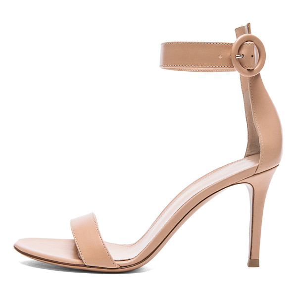 GIANVITO ROSSI Leather Portofino Heels - Leather upper and sole.  Made in Italy.  Approx 85mm/ 3.5...