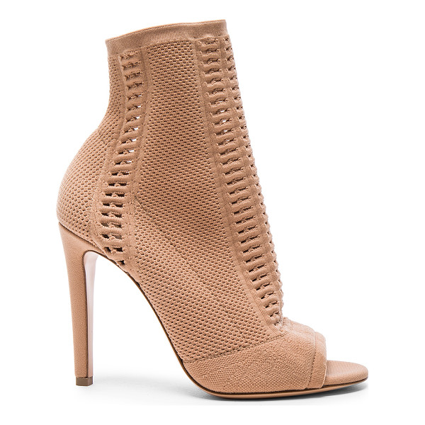 GIANVITO ROSSI Knit Vires Booties - Stretch knit upper with leather sole. Made in Italy. Shaft...