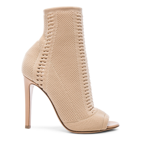 GIANVITO ROSSI Knit booties - Stretch knit fabric upper with leather sole.  Made in...