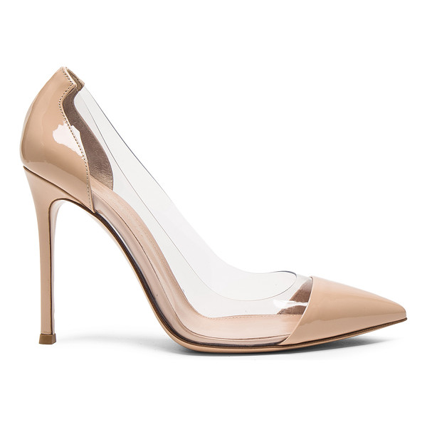GIANVITO ROSSI Patent Leather Plexi Pumps - Patent leather upper with leather sole. Made in Italy.