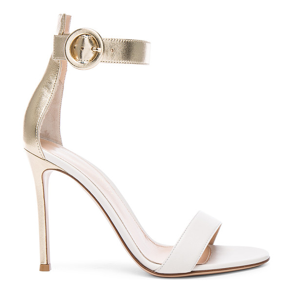 GIANVITO ROSSI Leather Portofino Heels - Leather upper and sole. Made in Italy. Approx 100mm/ 4 inch