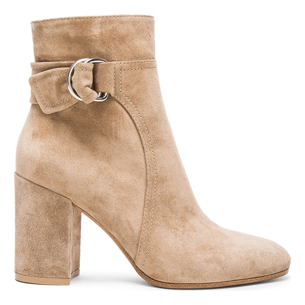 GIANVITO ROSSI Suede Belted Ankle Boots - Suede upper with leather sole.  Made in Italy.  Approx...
