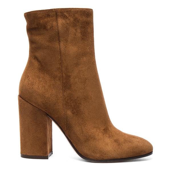 GIANVITO ROSSI Suede Rolling High Booties - Suede upper with leather sole. Made in Italy. Shaft