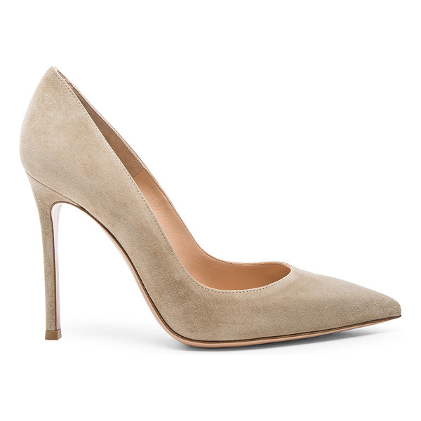 GIANVITO ROSSI Suede Gianvito Heels - Suede upper with leather sole.  Made in Italy.  Approx
