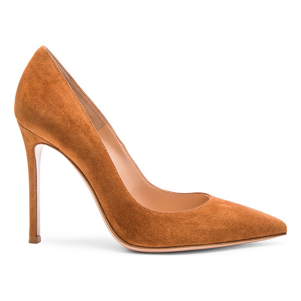 GIANVITO ROSSI Suede gianvito heels - Suede upper with leather sole.  Made in Italy.  Approx...