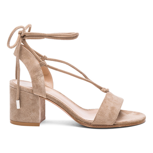 GIANVITO ROSSI Suede Lace Up Sandals - Suede upper with leather sole.  Made in Italy.  Approx